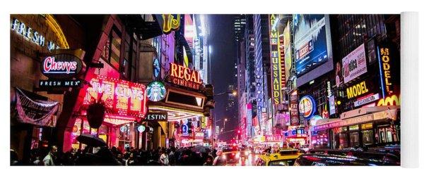 New York City Night Yoga Mat