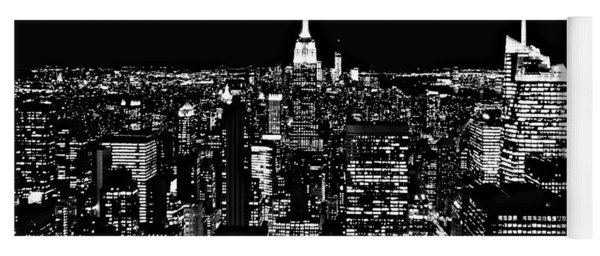 New York City Skyline At Night Yoga Mat