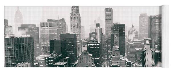 New York City - Snow-covered Skyline Yoga Mat