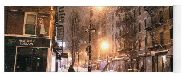 New York City - Snow - Lower East Side Yoga Mat