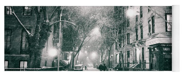 New York City - Winter Night In The West Village Yoga Mat