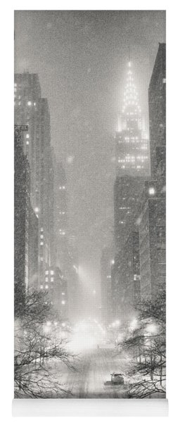 New York City - Winter Night Overlooking The Chrysler Building Yoga Mat
