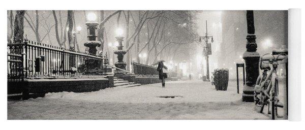 New York City Winter Night Yoga Mat