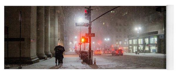 New York City Winter - Romance In The Snow Yoga Mat