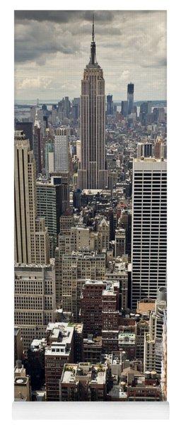 New York Midtown Skyscrapers Yoga Mat