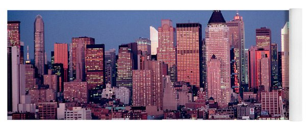 New York Skyline At Dusk Yoga Mat