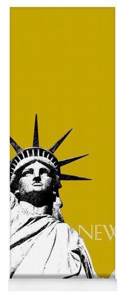New York Skyline Statue Of Liberty - Gold Yoga Mat