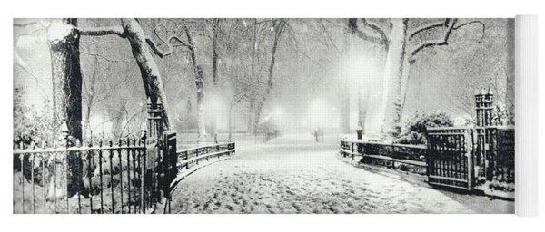 New York Winter Landscape - Madison Square Park Snow Yoga Mat