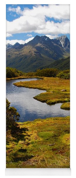 Yoga Mat featuring the photograph New Zealand Alpine Landscape by Cascade Colors