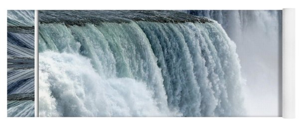 Niagara Falls American Side Closeup With Warp Frame Yoga Mat