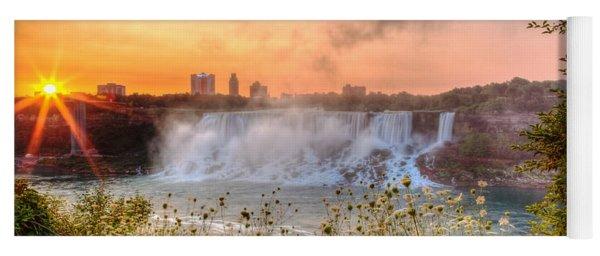 Niagara Falls Canada Sunrise Yoga Mat