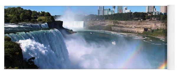 Niagara Falls Double Rainbow Yoga Mat