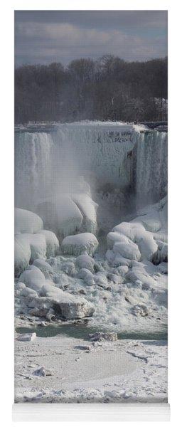 Niagara Falls Ice Buildup - American Falls New York State U S A Yoga Mat