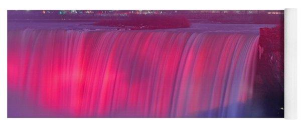 Niagara Falls Pretty In Pink Lights. Yoga Mat