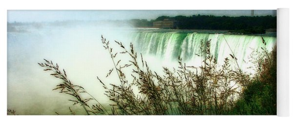 Niagara Falls With Grasses Yoga Mat