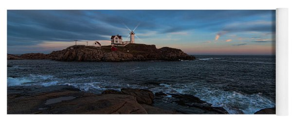 Night At Nubble Light Yoga Mat