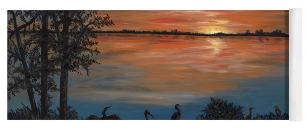 Nightfall At Loxahatchee Yoga Mat
