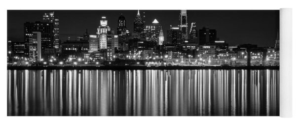 Nightfall In Philly B/w Yoga Mat