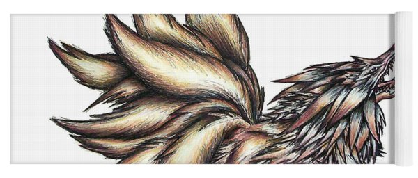 Nine Tails Wolf Demon Yoga Mat