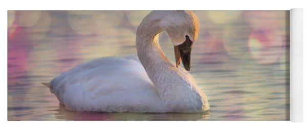 Yoga Mat featuring the photograph Shy Swan by Patti Deters