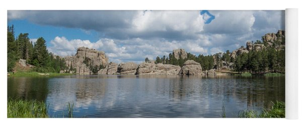 Yoga Mat featuring the photograph Sylvan Lake South Dakota by Patti Deters