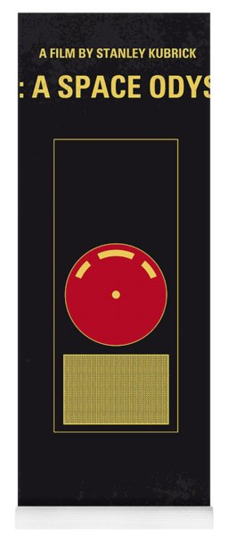No003 My 2001 A Space Odyssey 2000 Minimal Movie Poster Yoga Mat
