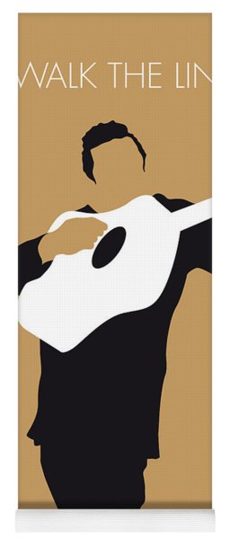 No010 My Johnny Cash Minimal Music Poster Yoga Mat