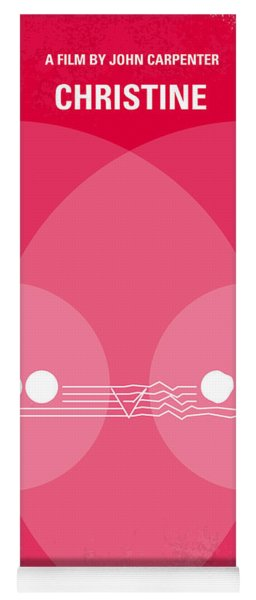 No016 My Christine Minimal Movie Poster Yoga Mat