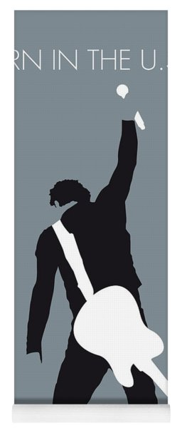 No017 My Bruce Springsteen Minimal Music Poster Yoga Mat