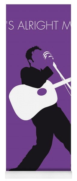 No021 My Elvis Minimal Music Poster Yoga Mat