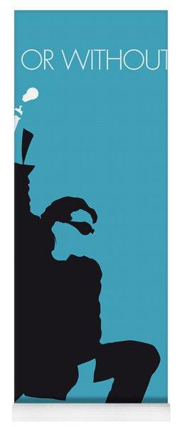 No035 My U2 Minimal Music Poster Yoga Mat