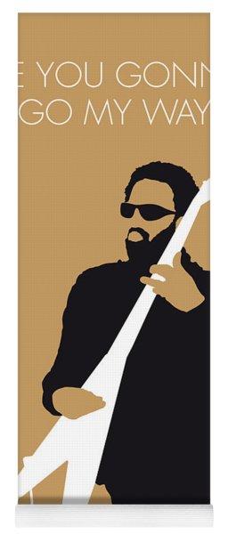 No050 My Lenny Kravitz Minimal Music Poster Yoga Mat