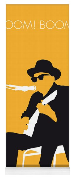 No054 My Johnny Lee Hooker Minimal Music Poster Yoga Mat