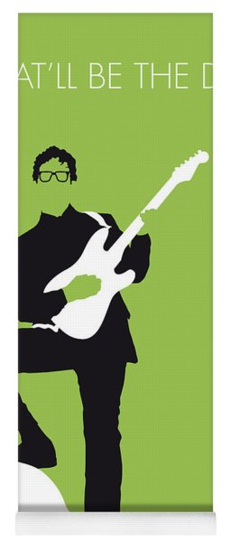 No056 My Buddy Holly Minimal Music Poster Yoga Mat