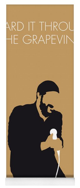 No060 My Marvin Gaye Minimal Music Poster Yoga Mat