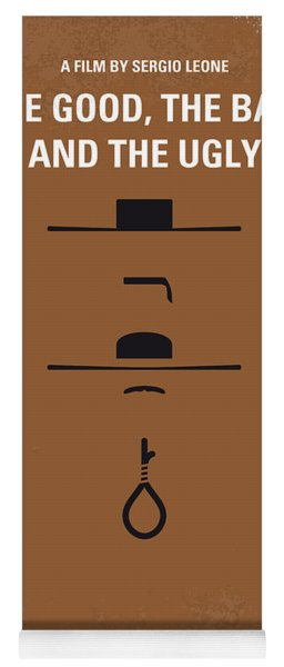 No090 My The Good The Bad The Ugly Minimal Movie Poster Yoga Mat