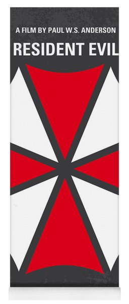 No119 My Resident Evil Minimal Movie Poster Yoga Mat