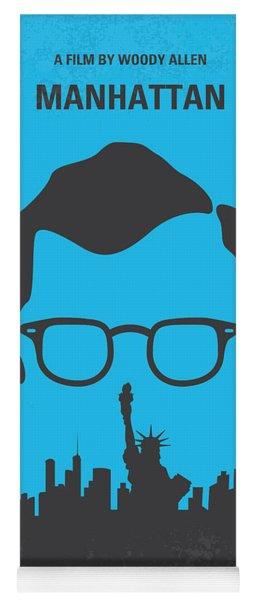 No146 My Manhattan Minimal Movie Poster Yoga Mat