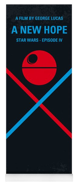 No154 My Star Wars Episode Iv A New Hope Minimal Movie Poster Yoga Mat