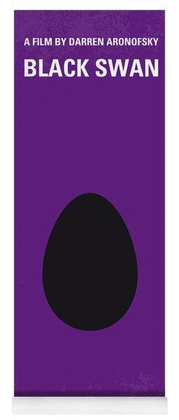 No162 My Black Swan Minimal Movie Poster Yoga Mat