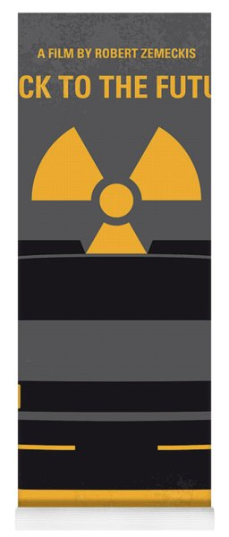 No183 My Back To The Future Minimal Movie Poster Yoga Mat