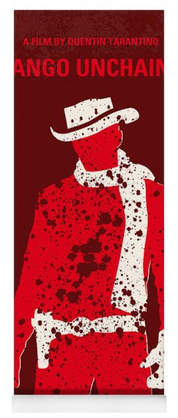 No184 My Django Unchained Minimal Movie Poster Yoga Mat