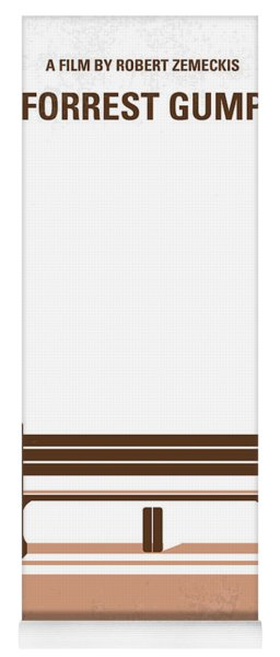 No193 My Forrest Gump Minimal Movie Poster Yoga Mat
