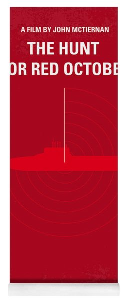 No198 My The Hunt For Red October Minimal Movie Poster Yoga Mat