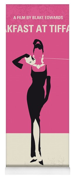 No204 My Breakfast At Tiffanys Minimal Movie Poster Yoga Mat
