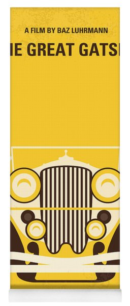 No206 My The Great Gatsby Minimal Movie Poster Yoga Mat