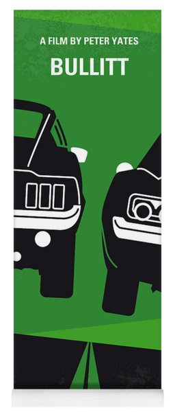 No214 My Bullitt Minimal Movie Poster Yoga Mat