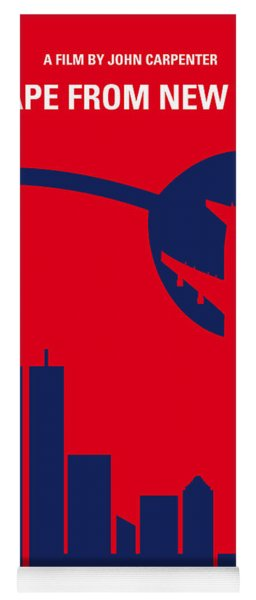 No219 My Escape From New York Minimal Movie Poster Yoga Mat