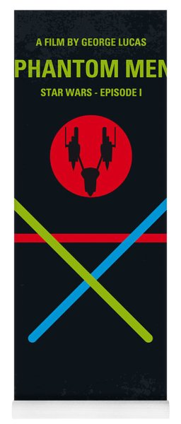 No223 My Star Wars Episode I The Phantom Menace Minimal Movie Poster Yoga Mat