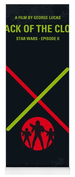No224 My Star Wars Episode II Attack Of The Clones Minimal Movie Poster Yoga Mat